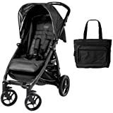 Peg Perego - Booklet Stroller with Diaper Bag - Onyx