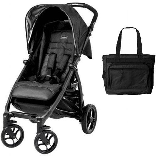 Peg Perego - Booklet Stroller with Diaper Bag - Onyx by Peg Perego