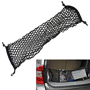 """43""""x16""""Cargo Net Black Mesh Trunk Cargo Organizer Storage Net Hammock Trunk Organizer Vehicle Storage"""
