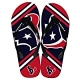 Houston Texans 2013 Official NFL Unisex Flip Flop Beach Shoes Sandals slippers size Medium