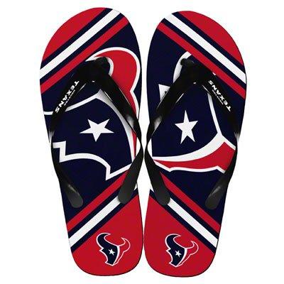 786727cb Amazon.com : Houston Texans 2013 Official NFL Unisex Flip Flop Beach ...