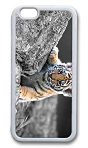 MOKSHOP Adorable Cute Tiger Baby Soft Case Protective Shell Cell Phone Cover For Apple Iphone 6 Plus (5.5 Inch) - TPU White