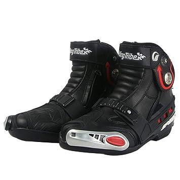 RiDing Tribe Zapatillas De Moto Bajo Desnudo Botas De Montar Cuero Zapatos De Carreras Hombres Y Mujeres Cuatro Estaciones Anti CaíDa Zapatillas De ...