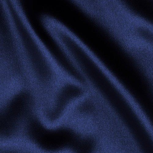 TELIO Tahari Stretch Satin Navy Fabric by The Yard