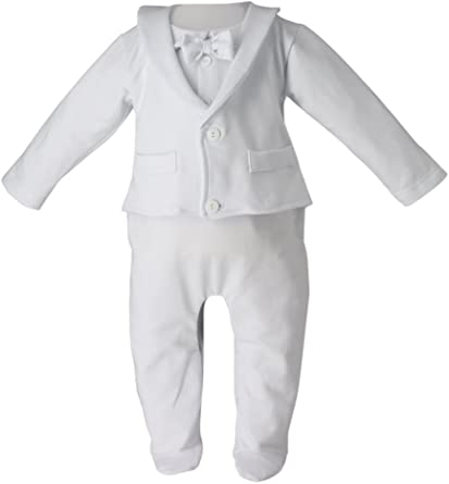Boutique Magique Pyjama Costume Blanc pour bébé: