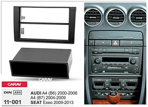 Carav 11 001 Din Autoradio Radioblende Mit Ablagefach Dvd Dash Installation Kit Für Audi A4
