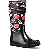Coach Trisha Floral 2 Canvas Rubber Boots