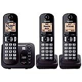 Panasonic KX-TGC253B DECT 6.0 3-Handset Landline Telephone with Answering Machine (Certified Refurbished)