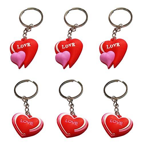 ve Hearts Keychain Car Keyring Purse Bag Pendant Decoration Hanging Keychain Accessory Creative Gift (Random Pattern) ()