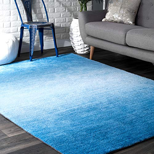 nuLOOM Bernetta Hand Tufted Ombre Area Rug, 4 x 6 , Blue
