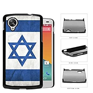 Israelian Flag In Grunge Hard Plastic Snap On Cell Phone Case LG Nexus 5