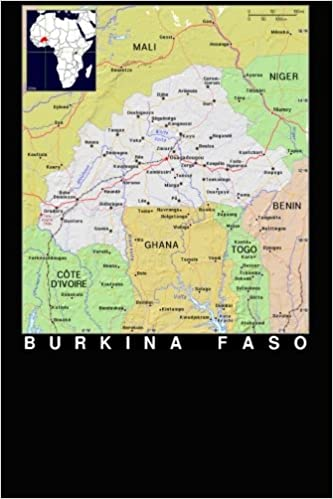 Modern Day Color Map Of The Nation Burkina Faso In Africa Journal