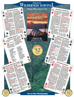 Wilderness Survival Playing Cards, Nature Themed And Camp Playing Cards, Camp Games Kids And Adults Love
