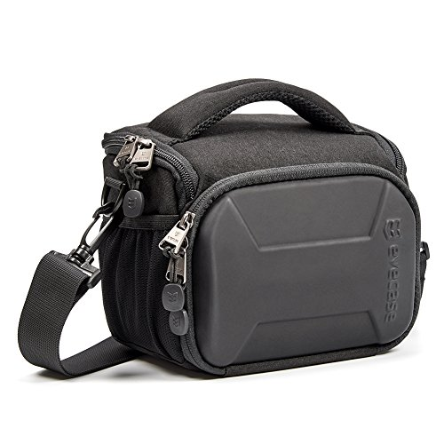 Evecase Hard Shell DSLR Digital SLR Camera Holster Shoulder Bag, Waterproof Small Travel Compact Case with Rain Cover (Fuji Digital Camera Case)