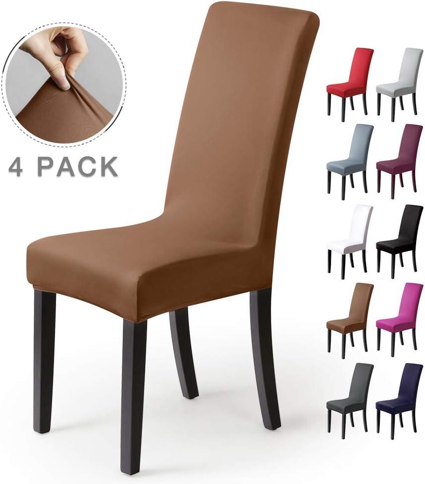 BalladHome®Fundas para sillas Pack de 4 Fundas sillas Comedor Fundas elásticas, Cubiertas para sillas
