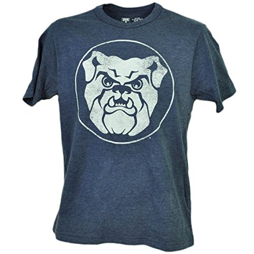 NCAA Butler Bulldogs Distressed Logo Navy Blue Tshirt Tee Mens Short Sleeve MED - Mens Navy Blue Bull