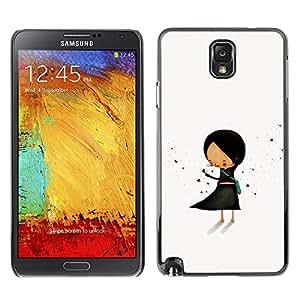 TopCaseStore / la caja del caucho duro de la cubierta de protección de la piel - Pastel Minimalist Black Hand Drawn - Samsung Galaxy Note 3 N9000 N9002 N9005