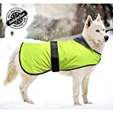 Bseen Dog Jacket Waterproof Soft Cotton Blanket Coat Winter Clothes for Large Dogs with Adjustable Magic Buckle to Fit Your Pet Dog (XL)