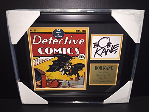 BOB KANE SIGNATURE REPRINT DC DETECTIVE COMICS #27 BATMAN FRAMED 8X10 PHOTO from Baseball Card Outlet & Sports Memorabilia