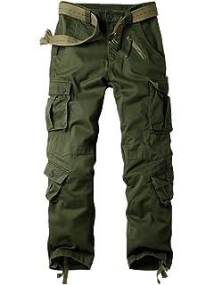 0750c20033 OCHENTA Men's Cargo Regular Trouser Army Combat Work Trouser Workwear Pants  with 8 Pocket #3357