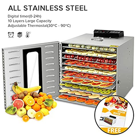 Commercial Stainless Steel Food Dehydrator for Food and Jerky - Sale: $192.08 USD