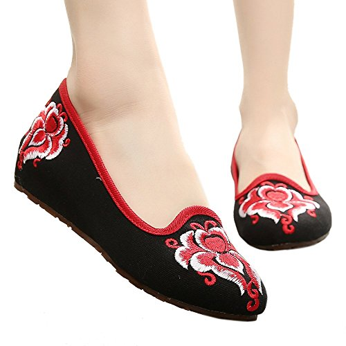 Cloth 38 Old Shoes Embroidered Beijing Pointed Kite black PwTqx