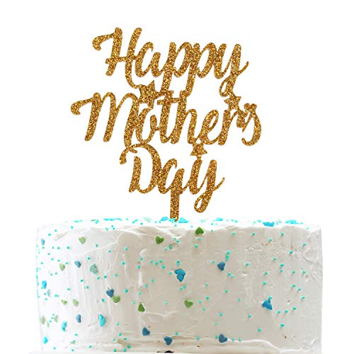 Happy Mother's Day Cake Topper for Happy Birthday Mom,Best Mom Ever Party Decorations