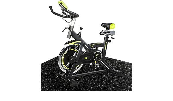 XtremepowerUS Pro bicicleta estática 40 W/kg, cromo Volante (negro ...