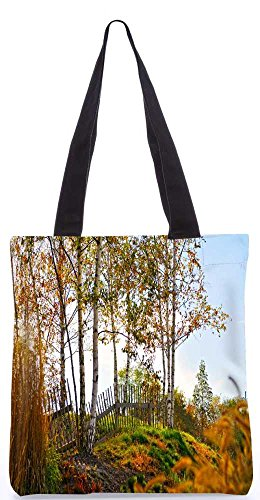 """Snoogg Sonnenschein Wald Tragetasche 13,5 X 15 In """"Shopping-Dienstprogramm Tragetasche Aus Polyester Canvas"""