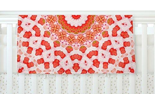 KESS InHouse Iris Lehnhardt Mandala I Red Orange Fleece Baby Blanket 40 x 30 [並行輸入品]   B077ZPD1M3