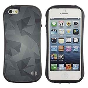 """Pulsar iFace Series Tpu silicona Carcasa Funda Case para Apple iPhone 5 / iPhone 5S , Patrón Gris Gris Android"""""""