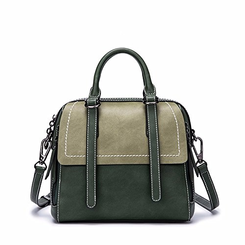 2018 nuevo estilo bolso, bolso de Moda Satchel, retro,Verde Verde