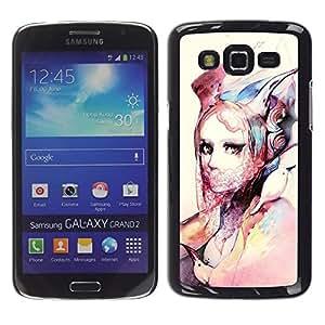 Be Good Phone Accessory // Dura Cáscara cubierta Protectora Caso Carcasa Funda de Protección para Samsung Galaxy Grand 2 SM-G7102 SM-G7105 // Fashion Watercolor Art Design Clothes