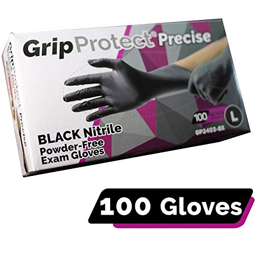 GripProtect Precise Black Nitrile Exam