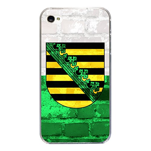 "Disagu Design Case Schutzhülle für Apple iPhone 4s Hülle Cover - Motiv ""Sachsen"""