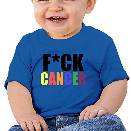 Audrey Hepburn Baby Costume (DVPHQ Baby's Fuck Cancer Colors T Shirts Little Boy's & Girl's RoyalBlue Size 24 Months (6-24 Months))