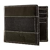 Genuine Leather Wallet Mens Slim Bifold 8 Card Slot RFID Blocking, Black