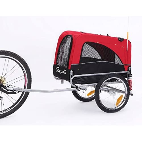 Image of Pet Supplies Sepnine 2 in 1 Medium Sized Comfortable Bike Trailer Bicycle Pet Trailer/Dog Cage 10308S