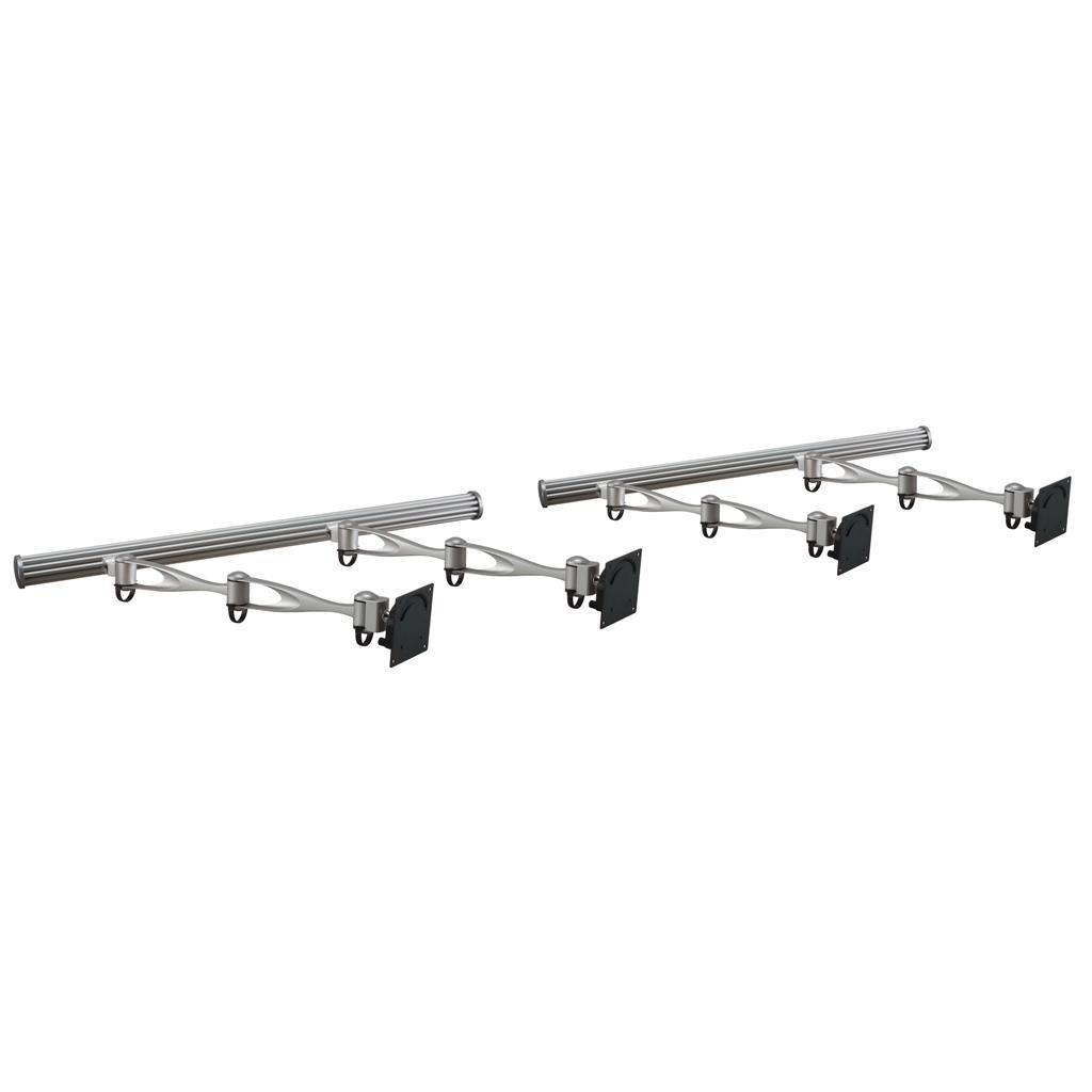 Cotytech Wandhalterung Wandhalterung für vier Monitore Doppelarm vertial oder horizontal