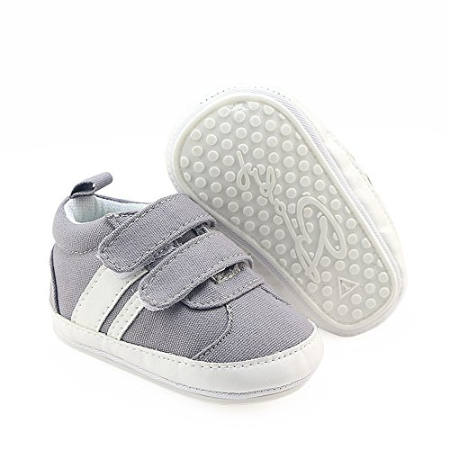 c65ac5fa7 Galleon - Isbasic Canvas Sneakers Shoes For Baby Boys Girls Toddler Non-Slip  Rubber Sole Casual Infant Trainer (12-18 Months, Gray)