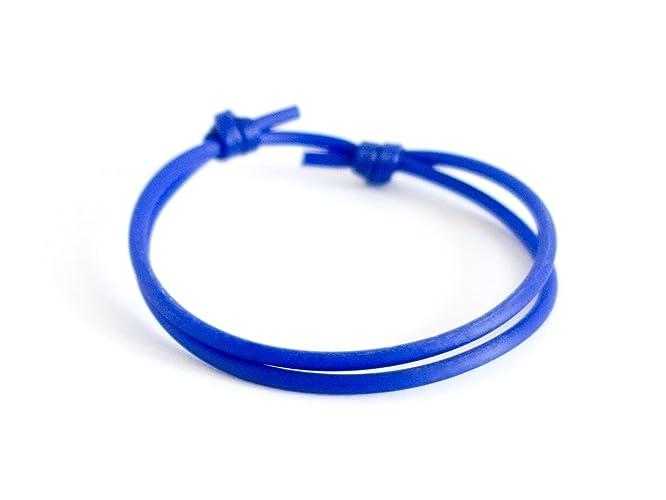 727e340344221 Amazon.com: Sliding Bracelet Clasp Knot Mens Blue Rope Adjustable ...