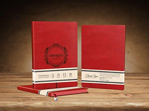 - Premium Flexible Namaste India - Ruby Red PU Notebook