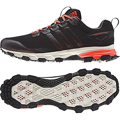Adidas Outdoor Mens Response Trail 21 M Running Sneakers Nero / Rosso Solare / Verde Base