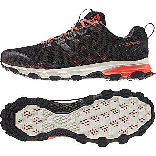 Adidas Udendørs Mænds Reaktion Spor 21 M Kører Sneakers Sort / Sol Rød / Base Grøn KN5nyCw2r