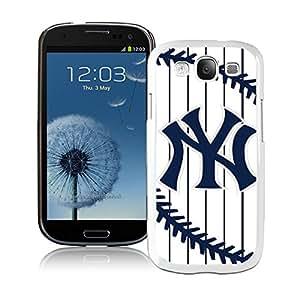 New York Yankees White Fantastic Design Samsung Galaxy S3 I9300 Cover Case