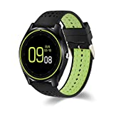 Meiyiu Bluetooth Smart Watch with Touch Screen SIM Card Hands-Free Call Support Waterproof Multifunction Multiple Languages Smartwatch Black