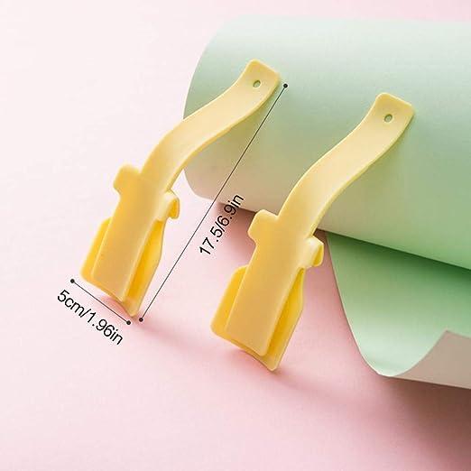Portable Handle Plastic Shoe Horn Lifter Flexible Sturdy Shoehorn Yellow