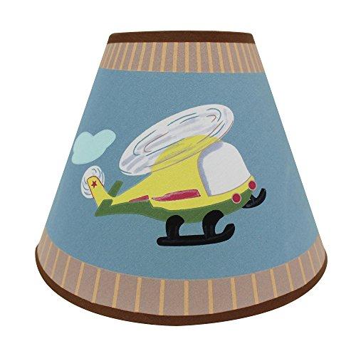 Campos de fantasía - Transporte Imaginación temática infantil Lámpara de mesa Inspirador Pintado a mano Detalles Pintura no tóxica, sin plomo, a base de agua