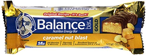 Balance Caramel Bar Blast Nut (Balance Gold Bar, Caramel Nut, 1.75 oz)
