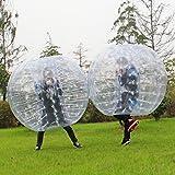 Eshion 2Pcs Dia 5' 1.5m Bubble Soccer Ball Human Inflatable Bumper Knocker Zorb Balls